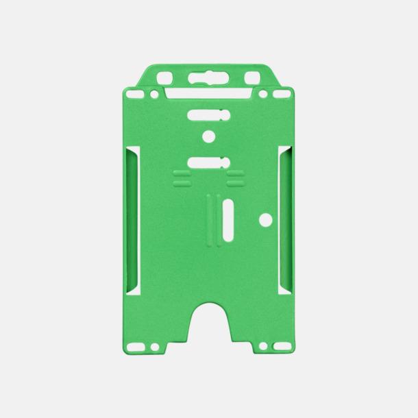 Grön (stående) Hållare för ID-kort - med reklamtryck