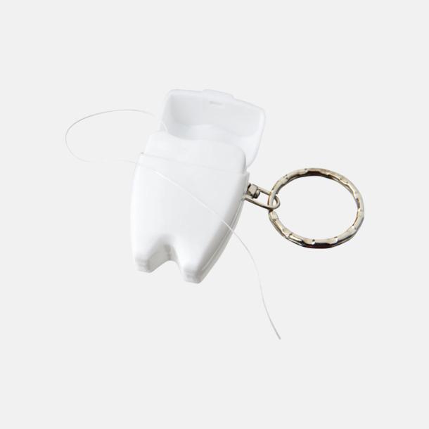 Vit Tandtråd i rolig förpackning med reklamtryck