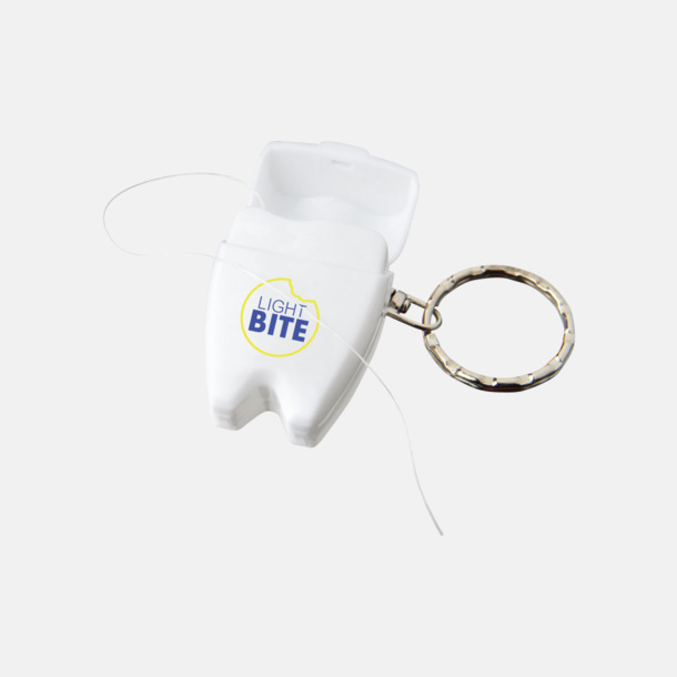 Med tampotryck Tandtråd i rolig förpackning med reklamtryck