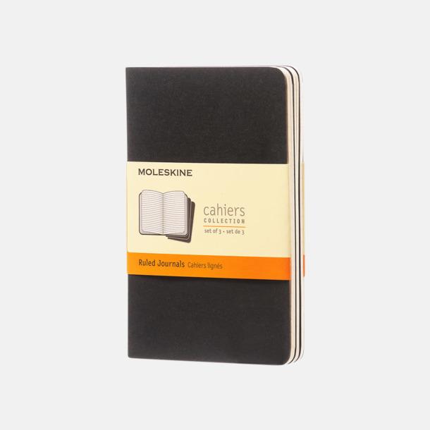 Svart (ruled) A6-anteckningsböcker från Moleskine med reklamtryck