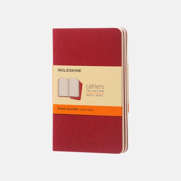 Cranberry Red (ruled) A6-anteckningsböcker från Moleskine med reklamtryck