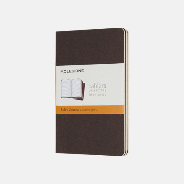 Coffee Brown (ruled) A6-anteckningsböcker från Moleskine med reklamtryck