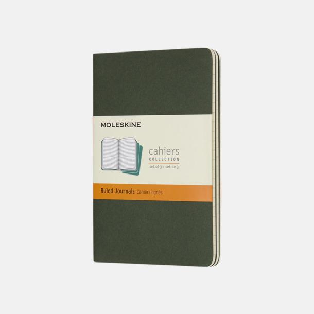 Myrtle Green (ruled) A6-anteckningsböcker från Moleskine med reklamtryck