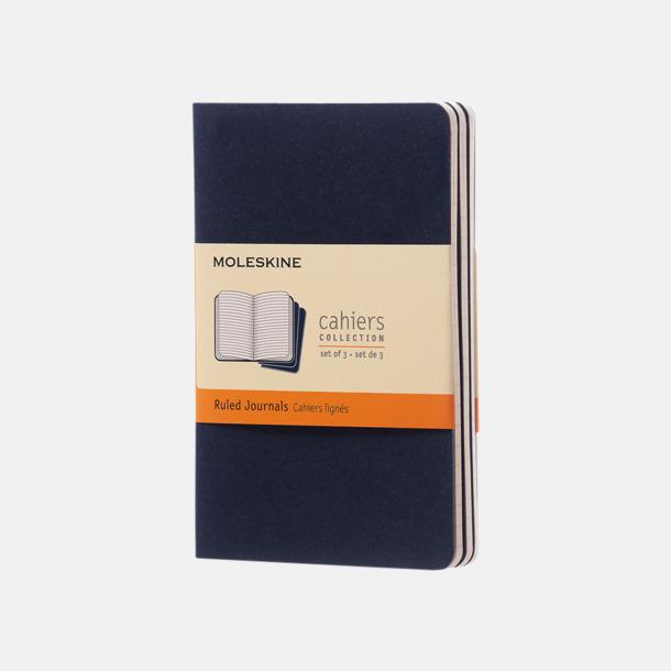 Indigo (ruled) A6-anteckningsböcker från Moleskine med reklamtryck