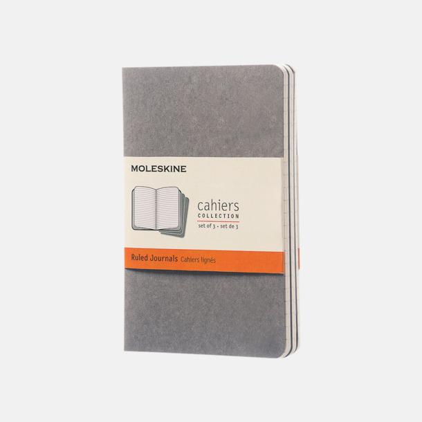 Pebble Grey (ruled) A6-anteckningsböcker från Moleskine med reklamtryck