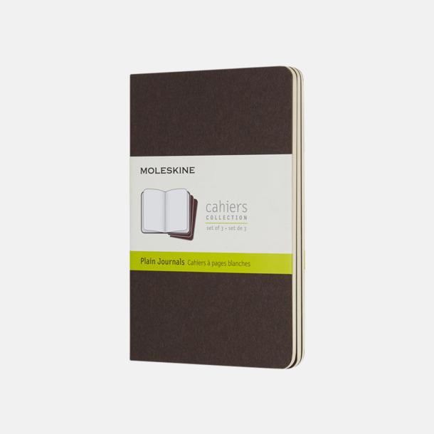 Coffee Brown (plain) A6-anteckningsböcker från Moleskine med reklamtryck