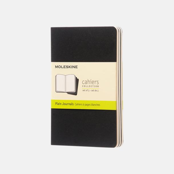 Svart (plain) A6-anteckningsböcker från Moleskine med reklamtryck