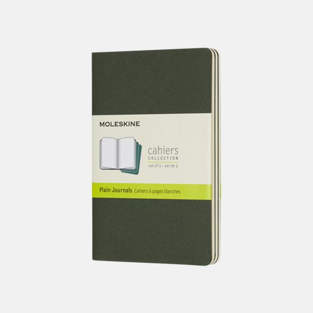 Myrtle Green (plain) A6-anteckningsböcker från Moleskine med reklamtryck