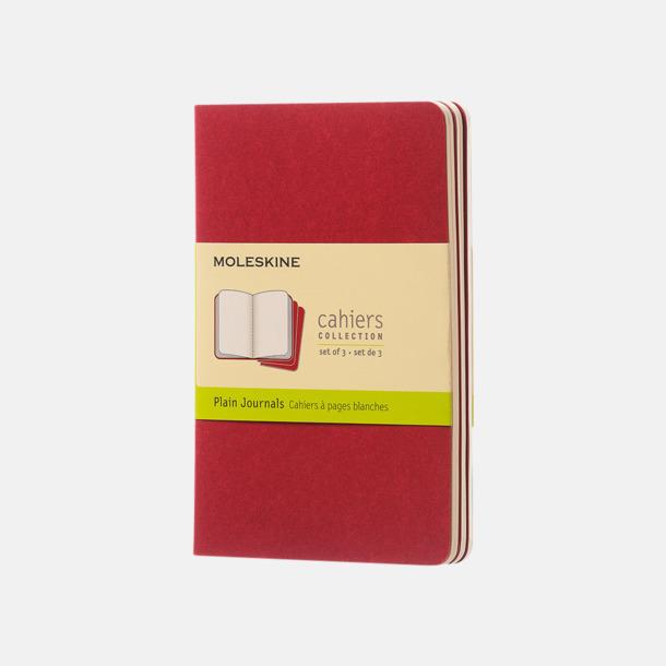 Cranberry Red (plain) A6-anteckningsböcker från Moleskine med reklamtryck