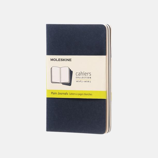 Indigo (plain) A6-anteckningsböcker från Moleskine med reklamtryck