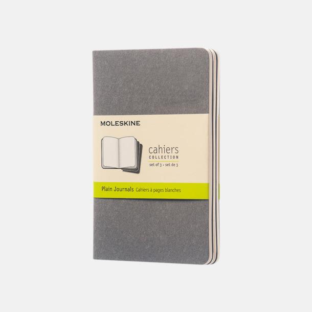 Pebble Grey (plain) A6-anteckningsböcker från Moleskine med reklamtryck