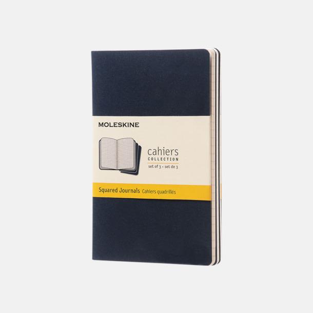 Indigo (squared) A6-anteckningsböcker från Moleskine med reklamtryck