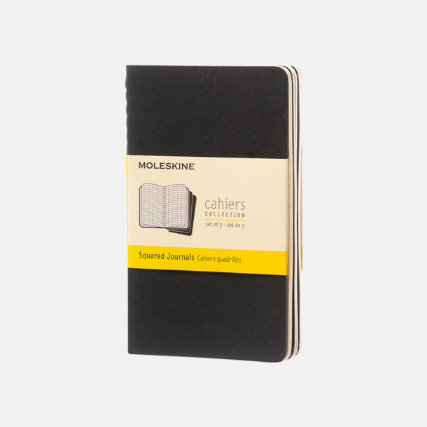 Svart (squared) A6-anteckningsböcker från Moleskine med reklamtryck