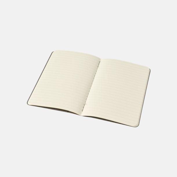 Linjerade sidor (ruled) A6-anteckningsböcker från Moleskine med reklamtryck