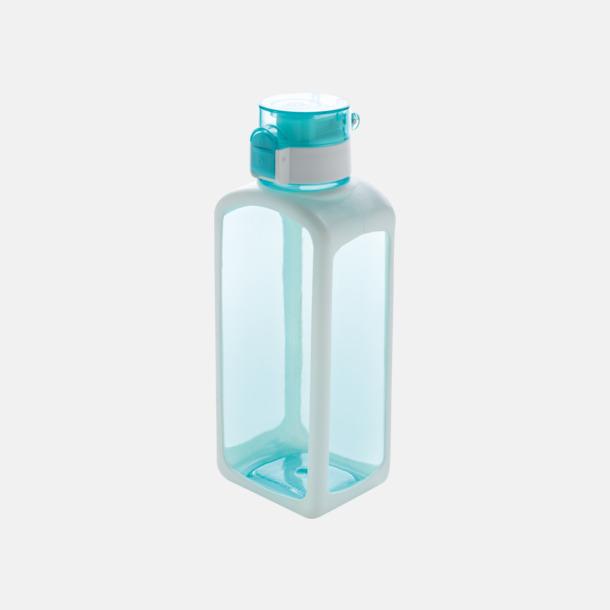Turkos Låsbar vattenflaska med reklamtryck
