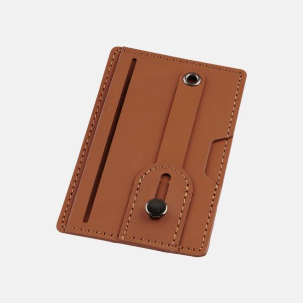 Brun Remförsedd mobilplånbok med RFID-skydd med reklamtryck