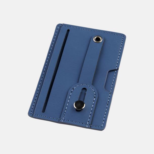 Marinblå Remförsedd mobilplånbok med RFID-skydd med reklamtryck