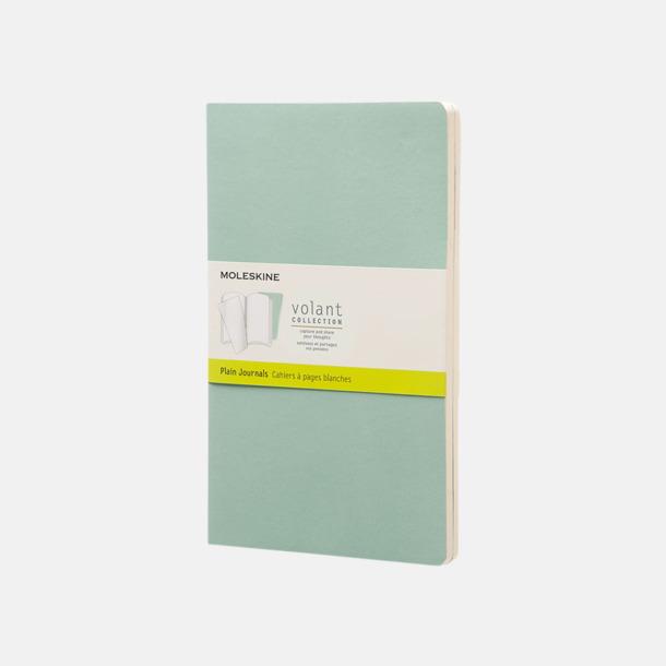 Sage Green (plain) Fina, stora anteckningsböcker från Moleskine med reklamtryck