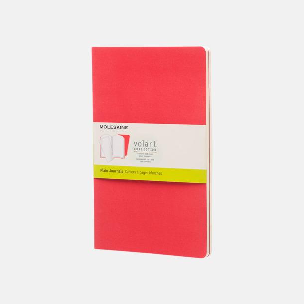 Geranium Red (plain) Fina, stora anteckningsböcker från Moleskine med reklamtryck