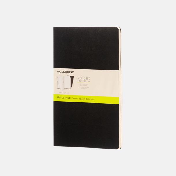 Svart (plain) Fina, stora anteckningsböcker från Moleskine med reklamtryck