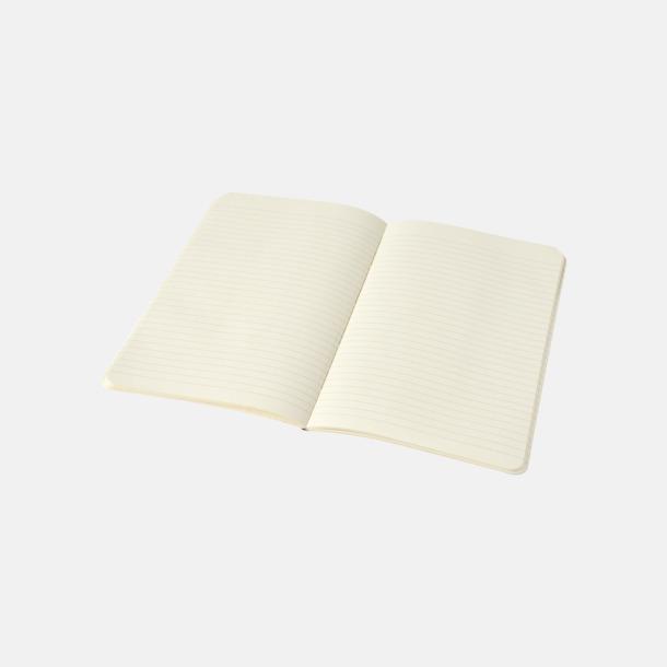 Linjerade sidor (ruled) Fina, stora anteckningsböcker från Moleskine med reklamtryck