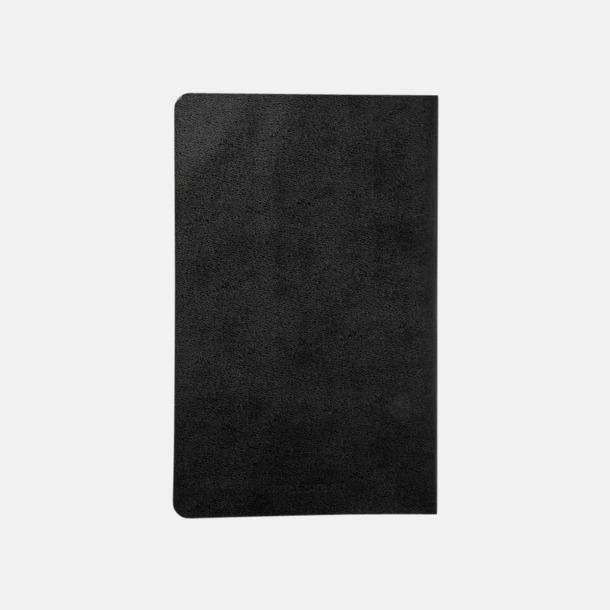 Baksida Fina, stora anteckningsböcker från Moleskine med reklamtryck