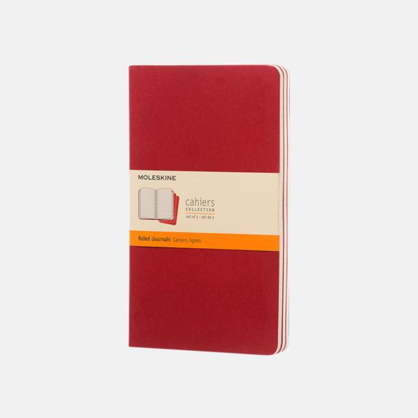 Cranberry Red (ruled) A5-anteckningsböcker från Moleskine med reklamtryck
