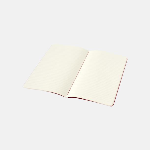 Linjerade sidor (ruled) A5-anteckningsböcker från Moleskine med reklamtryck
