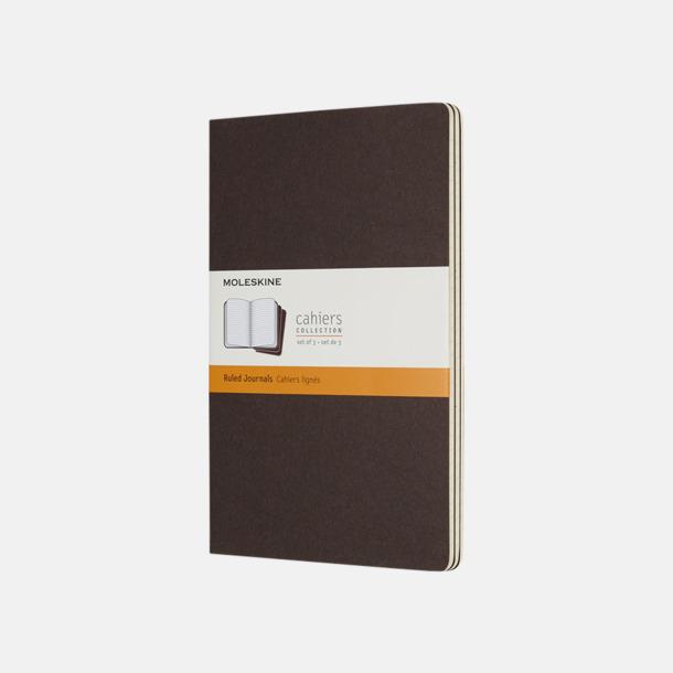 Coffee Brown (ruled) A5-anteckningsböcker från Moleskine med reklamtryck