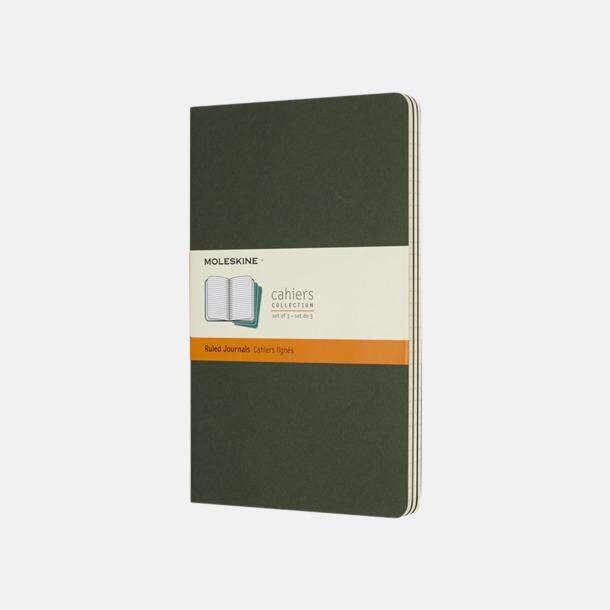 Myrtle Green (ruled) A5-anteckningsböcker från Moleskine med reklamtryck