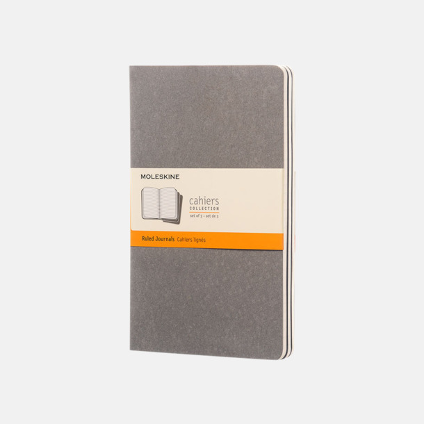 Pebble Grey (ruled) A5-anteckningsböcker från Moleskine med reklamtryck