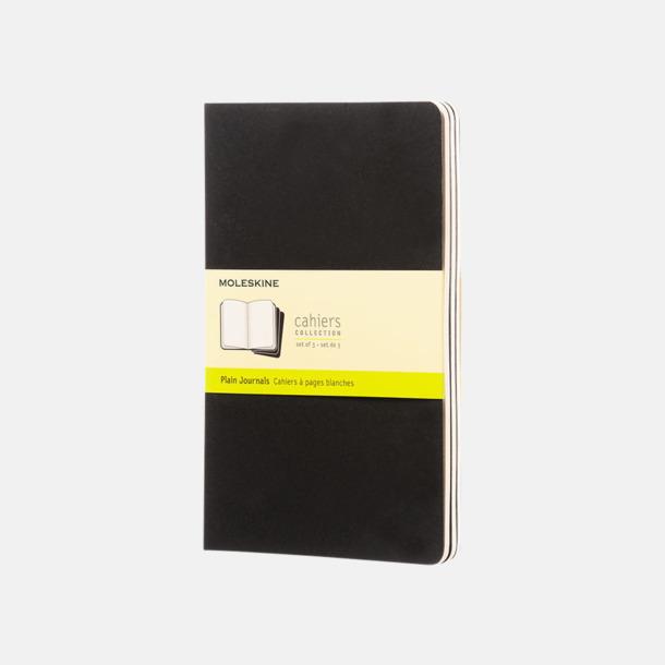 Svart (plain) A5-anteckningsböcker från Moleskine med reklamtryck
