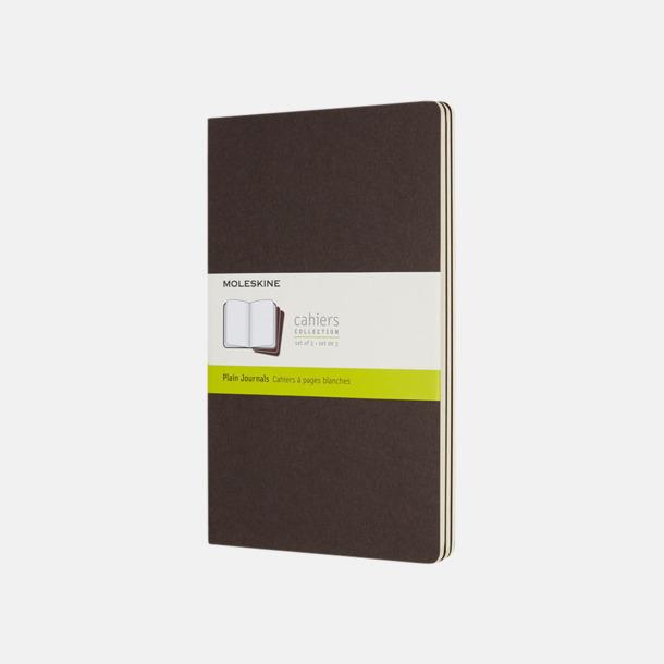 Coffee Brown (plain) A5-anteckningsböcker från Moleskine med reklamtryck