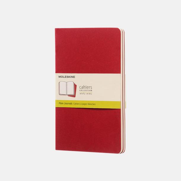 Cranberry Red (plain) A5-anteckningsböcker från Moleskine med reklamtryck