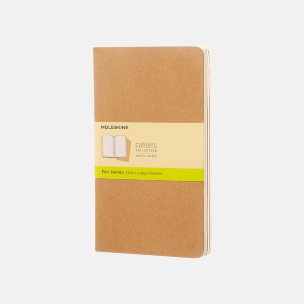 Kraft Brown (plain) A5-anteckningsböcker från Moleskine med reklamtryck