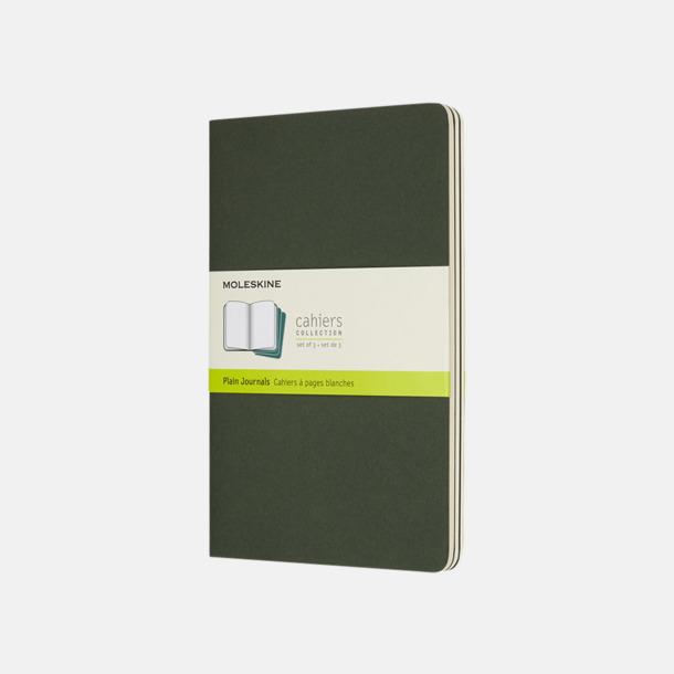 Myrtle Green (plain) A5-anteckningsböcker från Moleskine med reklamtryck