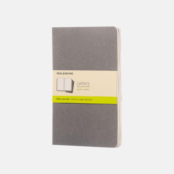Pebble Grey (plain) A5-anteckningsböcker från Moleskine med reklamtryck