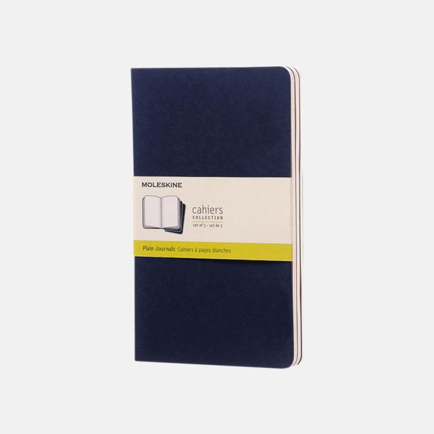 Indigo (plain) A5-anteckningsböcker från Moleskine med reklamtryck