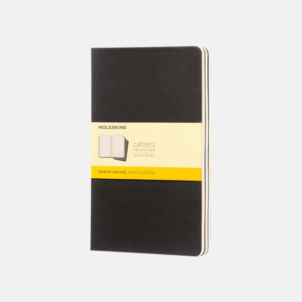 Svart (squared) A5-anteckningsböcker från Moleskine med reklamtryck