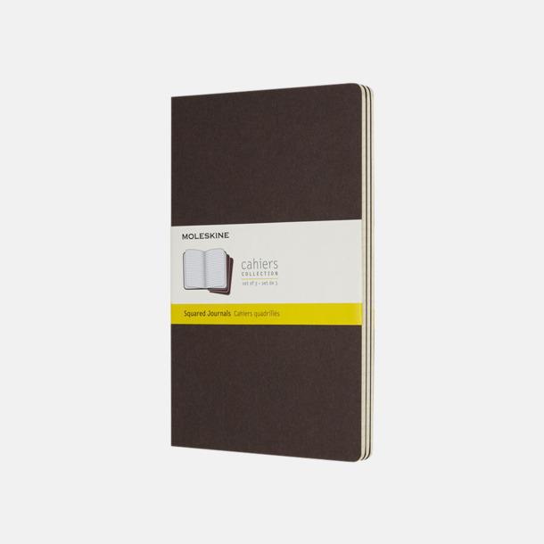 Coffee Brown (squared) A5-anteckningsböcker från Moleskine med reklamtryck