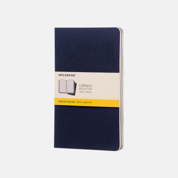 Indigo (squared) A5-anteckningsböcker från Moleskine med reklamtryck