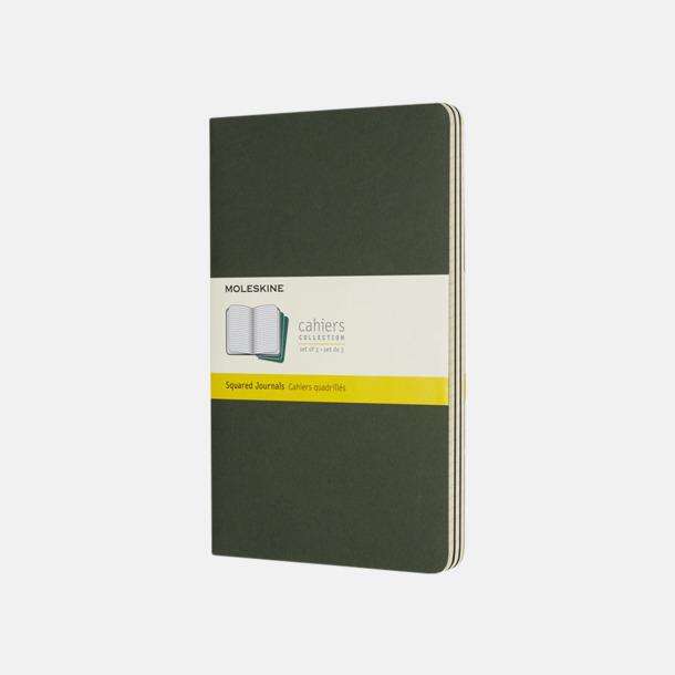 Myrtle Green (squared) A5-anteckningsböcker från Moleskine med reklamtryck
