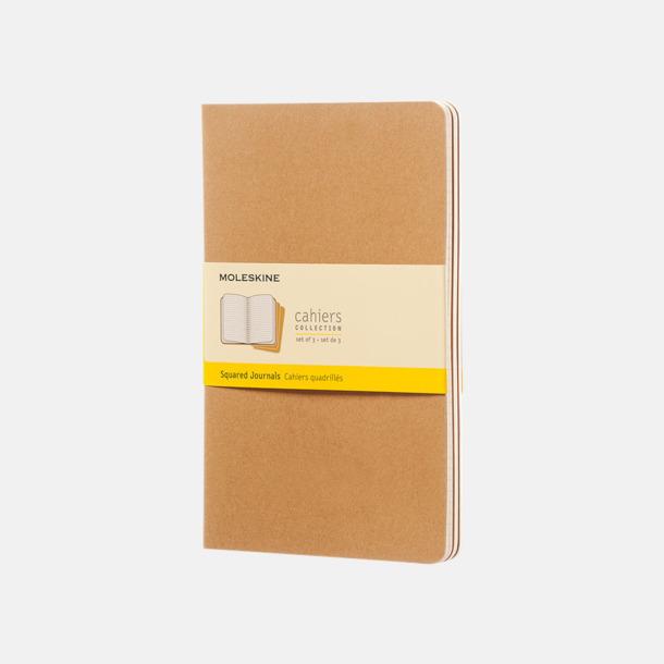 Kraft Brown (squared) A5-anteckningsböcker från Moleskine med reklamtryck