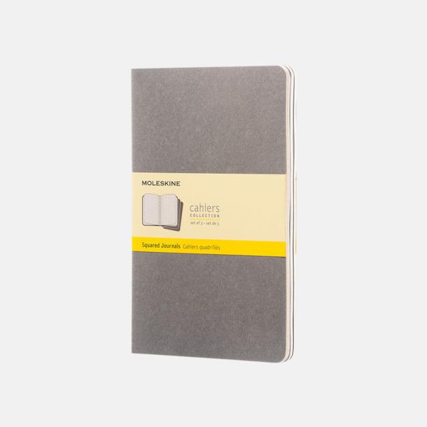 Pebble Grey (squared) A5-anteckningsböcker från Moleskine med reklamtryck
