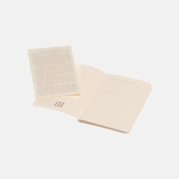 Fina, små anteckningsböcker från Moleskine med reklamtryck