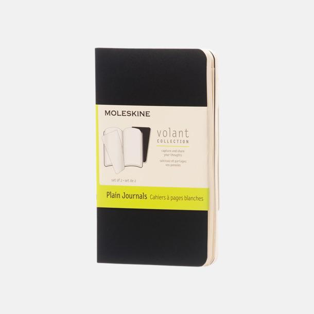 Svart (plain) Fina, små anteckningsböcker från Moleskine med reklamtryck