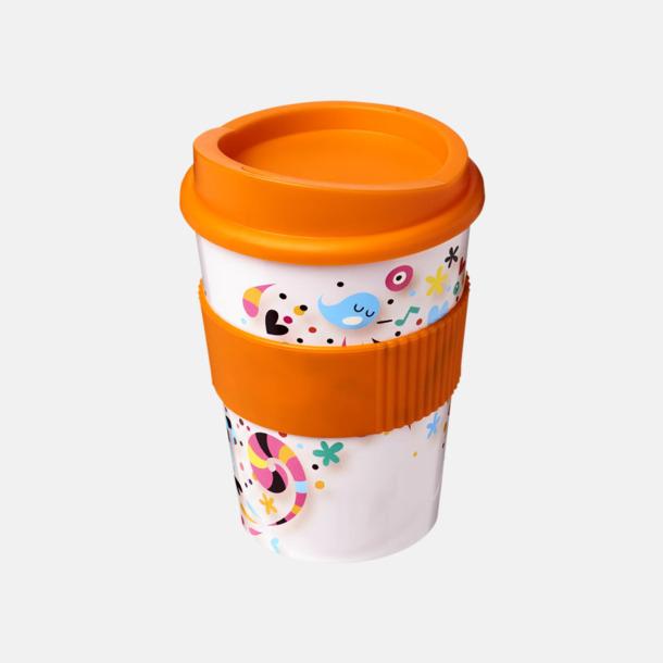 Orange Digitaltryckta take away-muggar på 30 cl