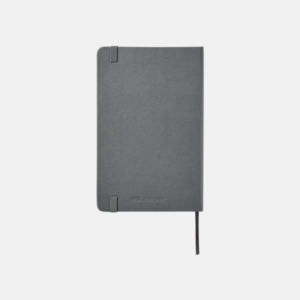 Baksida Medelstora anteckningsböcker (ca B6) från Moleskine med reklamtryck
