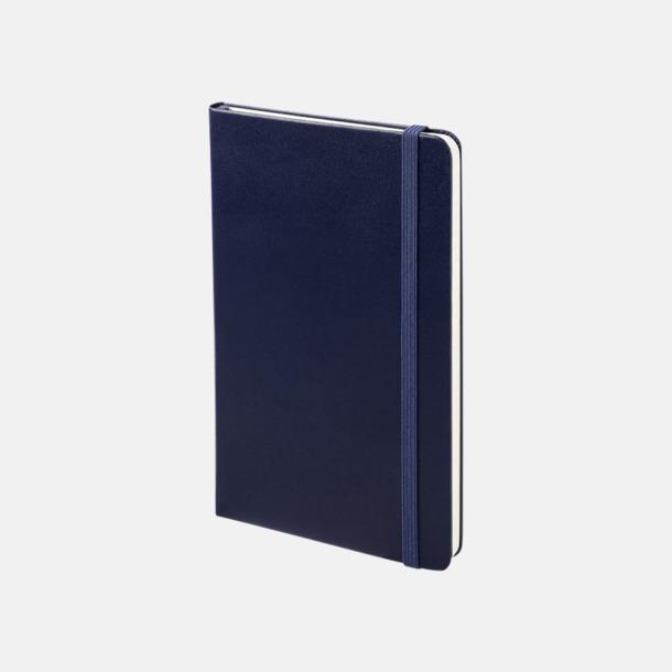 Prussian Blue Medelstora anteckningsböcker (ca B6) från Moleskine med reklamtryck
