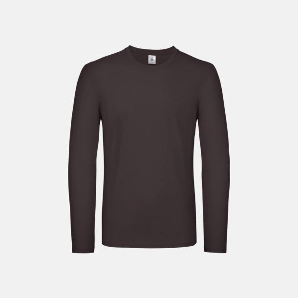 Bear Brown (herr) Fina, långärmade kvalitets bas t-shirts med reklamtryck